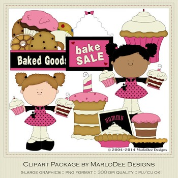 Bake Sale Clip Art Graphics Set 1