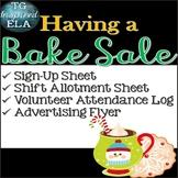 Bake Sale Fundraiser --Flyer - Sign up sheets - Shift Allo