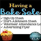 Bake Sale Fundraiser [Chevron] Sign up sheets - Shift Allotment - Attendance Log
