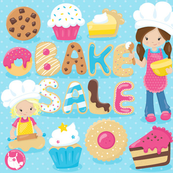 Bake sale clipart commercial use, vector graphics, digital  - CL1023