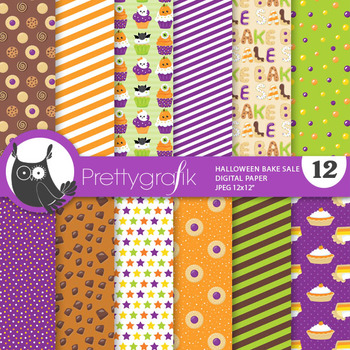 Bake sale papers, commercial use, scrapbook papers - PS827