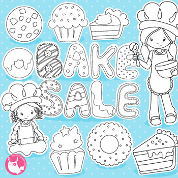 Bake sale stamps commercial use, vector graphics, images  - DS1023