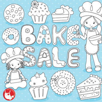 Bake sale stamps commercial use, vector graphics, images  - DS1026