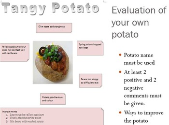 Baked Potato Design Folio Lessons