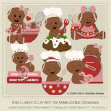 Baked with Love Gingers Gingerbread Clip Art Graphics