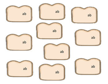 Baker theme - AB Word Family Activity/Project Set - NO PREP