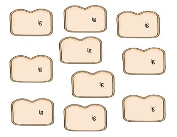 Baker theme - IG Word Family Activity/Project Set - NO PREP