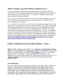 Baker v Carr--Case Description, Commentary, Vocabulary and