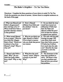 Baker's Neighbor Question Menu for Trophies