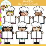 Blank Sign Bakers Clip Art