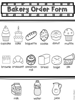 Bakery Dramatic Play by Pocket