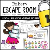 Bakery 3-Digit Addition and Subtraction Escape Room