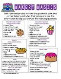 Bakery Basics Life Skills Activity
