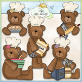 Bakery Bears - CU Colored Clip Art