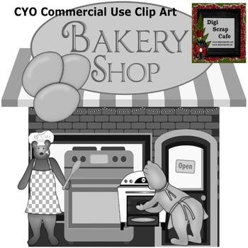 Bakery Bears Cook Kitchen scrapbook transparent clip art graphics