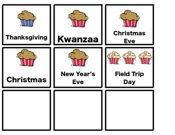 Bakery Calendar Set