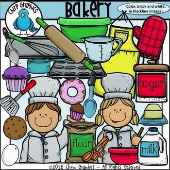 Bakery Clip Art Set - Chirp Graphics