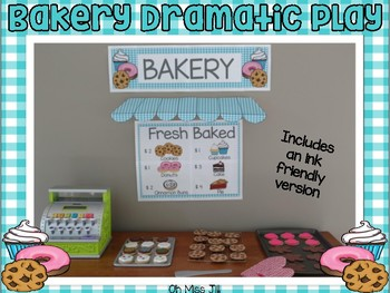 Bakery Dramatic Play Center And Cookie Shop By Oh Miss Jill Tpt