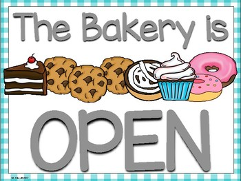Bakery Dramatic Play Center and Cookie Shop