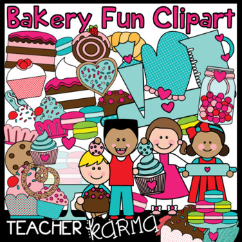 Bakery Fun & Sweets Clipart BUNDLE