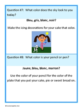 French Basic Phrases, Colors and Numbers Glyph