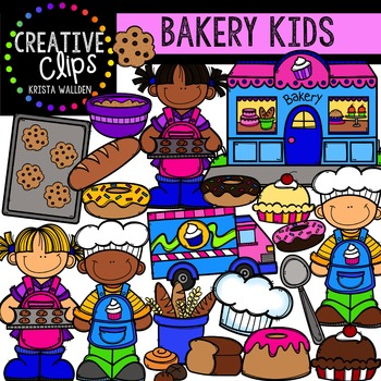 Bakery Kids {Creative Clips Digital Clipart}