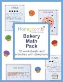 Bakery Theme Math Pack for Preschool, PreK & Kindergarten