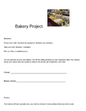 Bakery Project: Project Based Learning