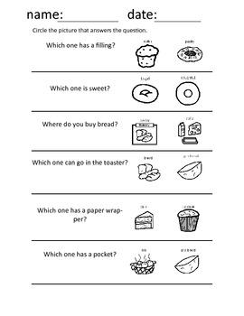 Bakery Words