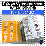 Bakery Work Tasks or File Folders