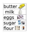 Bakery Writing Center: Word Cards