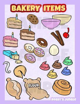 Bakery pastry clip art set