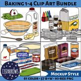 Baking 1-4 Clip Art Bundle