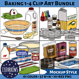 Baking 1-4 Clip Art Bundle