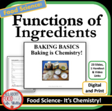 Back to School! Function of Ingredients- Baking is Chemist