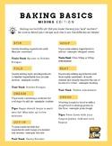 Baking Basics - Mixing Terms Printable/Handout