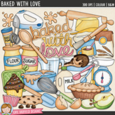 "Baking Clip Art: ""Baked With Love"""