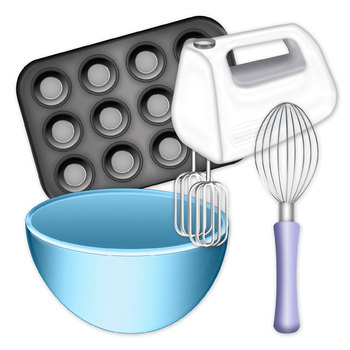 Baking Clip Art Digital Clipart Color and Black and White