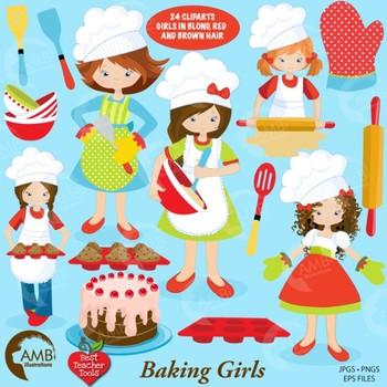 Clipart, Baking Day Chef Clip art, Digital Images, Scrapbooking,  AMB-1102