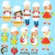 Clipart, Baking Day Chef Clip art, Digital Images, Scrapbo