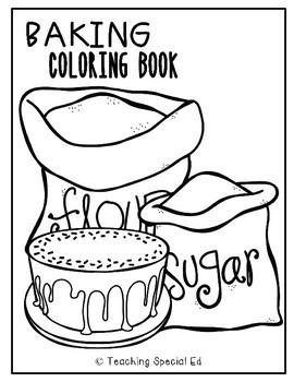 Baking Coloring Book & Worksheets