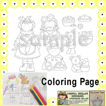 Baking Coloring Page