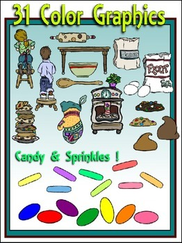 Baking Cookies Clipart (18 FREE Elements Included) Embellish Yourself Artworks