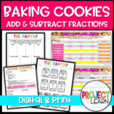 Baking Cookies - Add & Subtract Mixed Number Fractions
