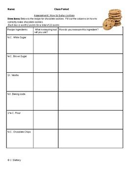 Baking Cookies Test