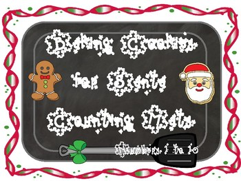 Baking Cookies for Santa Counting Mats 1 to 10