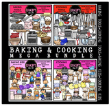 Baking & Cooking Clip Art Mega Bundle {Educlips Clipart}