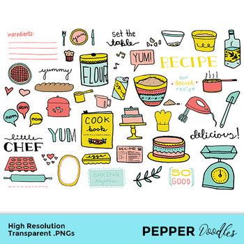Baking - Doodle Clipart - Transparent PNGs