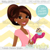 Baking Girl 004- Personal and Commercial Use Character Graphic