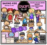 Baking Kids Clip Art Bundle {Educlips Clipart}